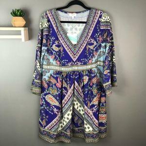 Umgee NWT boho paisley dress size Large